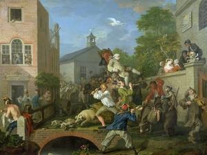 The Election IV Chairing the Member, 1754-55 by William Hogarth
