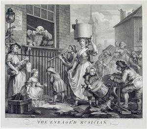 The Enraged Musician, 1741 (Engraving) by William Hogarth