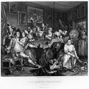 The Orgy, Plate Iii from 'A Rake's Progress' by William Hogarth