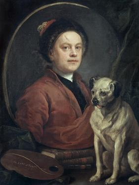 The Painter and His Pug , 1745 by William Hogarth