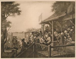 'The Polling', Plate III from 'The Humours of an Election', 1757 by William Hogarth