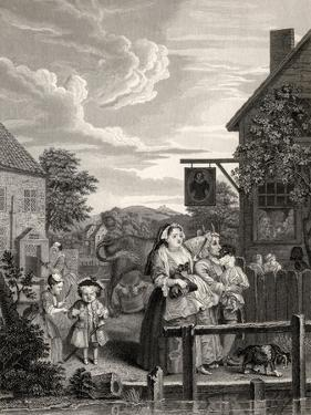 Times of the Day: Evening, from 'The Works of William Hogarth', Published 1833 by William Hogarth