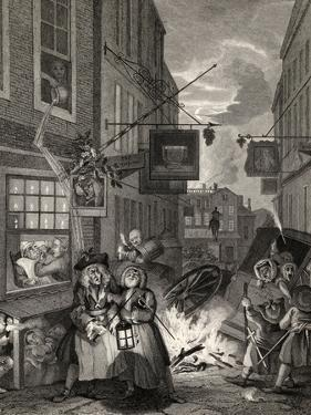 Times of the Day: Night, from 'The Works of William Hogarth', Published 1833 by William Hogarth