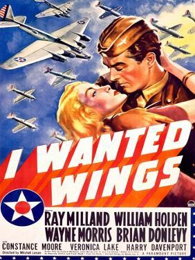 William Holden WWII AFF Wings Movie Poster