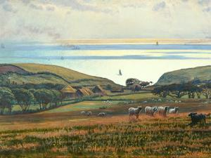 Fairlight Downs, Sunlight on the Sea by William Holman Hunt