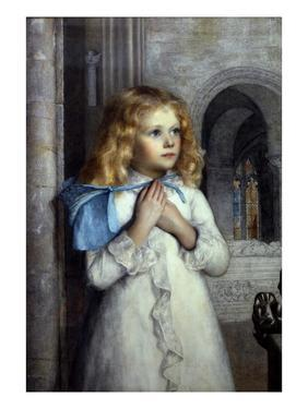 Her First Sermon by William Holman Hunt