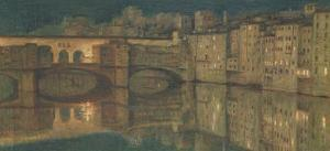 Ponte Vecchio, Florence by William Holman Hunt