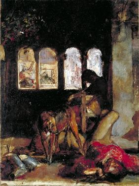 Sketch for the Eve of St Agnes, C1847 by William Holman Hunt
