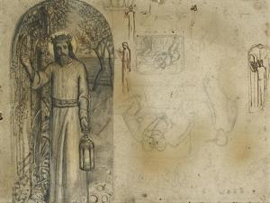Studies for 'The Light of the World' by William Holman Hunt
