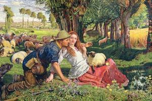 The Hireling Shepherd by William Holman Hunt