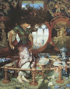 The Lady of Shalott. c.1889-92 by William Holman Hunt