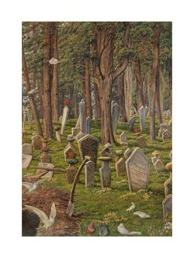 The Sleeping City: the Cemetery of Pera, Constantinople, 1856 - 1888 by William Holman Hunt