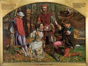Valentine Rescuing Sylvia from Proteus, 1851 by William Holman Hunt