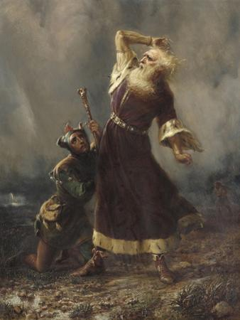 King Lear and the Fool (Shakespeare, King Lear, Act III, Scene II) by William Holmes Sullivan