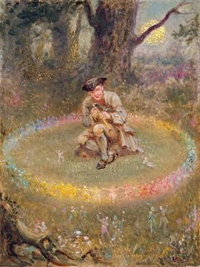 The Fairy Ring- the Enchanted Piper, C.1880 by William Holmes Sullivan
