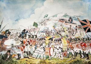 The Queen's Own Royal Dublin Militia Going into Action at the Battle of Vinegar Hill, Wexford, 1798 by William II Sadler
