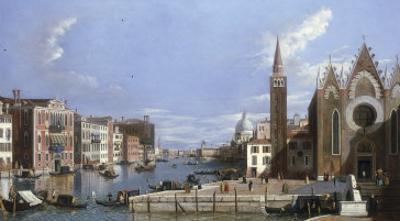 A View of the Grand Canal, Venice, from Santa Maria della Carita to the Bacino di San Marco