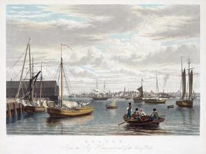 Boston, from the Ship House, West End of the Navy Yard, C.1833 by William James Bennett