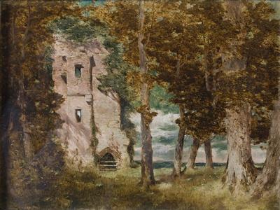 Ruins of Kirkoswald Castle, Cumberland, 1854