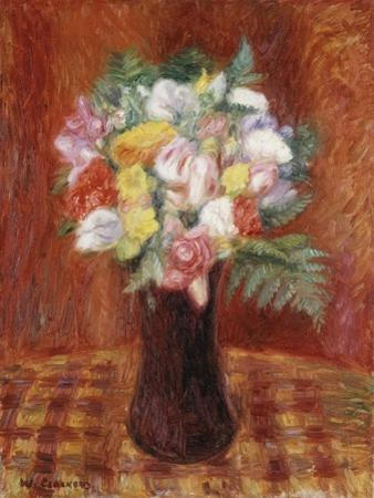 Bouquet in Purple Vase