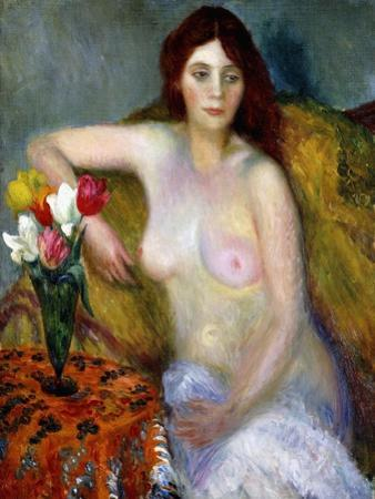 Nude with Tulips