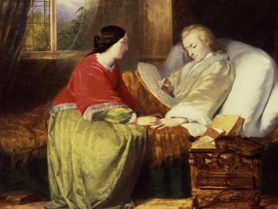 Mozart Composes His Requiem, C19th by William James Grant