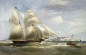 A Schooner off Dover, 1834 by William John Huggins