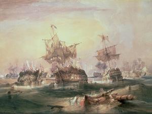 Battle of Trafalgar, 21st October 1805 by William John Huggins