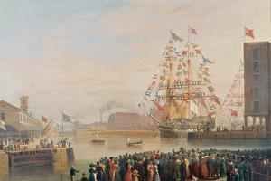 The Opening of St. Katherine's Dock, 25th October 1828 by William John Huggins