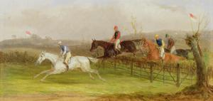 Steeplechasing: the Hurdle, 1869 by William Joseph Shayer
