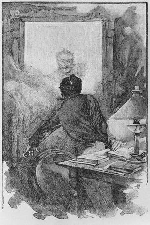 The Narrator and the Horla, Illustration from 'Le Horla'