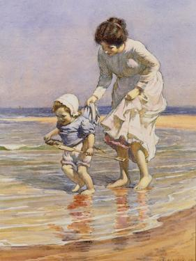 Paddling, 1915 by William Kay Blacklock