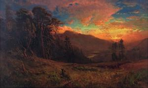 An Autumnal Sunset on the Russian River, 1878 by William Keith