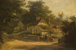 Old Cottages at Petersfield, 1820 by William Kidd