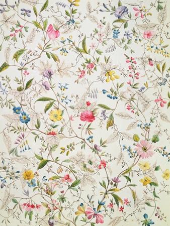 Wild Flowers Design for Silk Material, C.1790