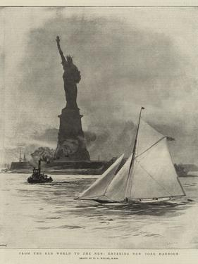 From the Old World to the New, Entering New York Harbour by William Lionel Wyllie