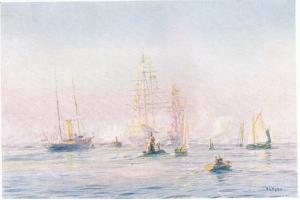 Portsmouth Harbour 1912, 1915 by William Lionel Wyllie