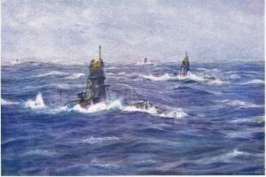 Submarines in the Channel, 1915 by William Lionel Wyllie