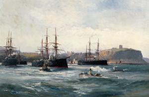 The Channel Fleet Off Scarborough, 1896 by William Lionel Wyllie