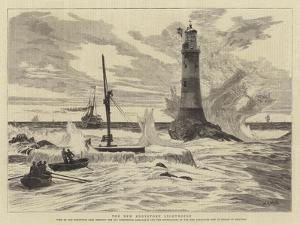 The New Eddystone Lighthouse by William Lionel Wyllie