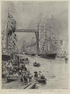 The Opening of the Tower Bridge by Hrh the Prince of Wales by William Lionel Wyllie