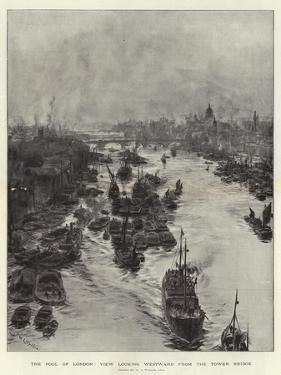 The Pool of London, View Looking Westward from the Tower Bridge by William Lionel Wyllie