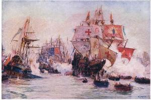 The Spanish Armada 1588, 1915 by William Lionel Wyllie
