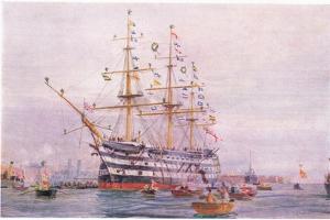Trafalgar Anniversary, 1915 by William Lionel Wyllie