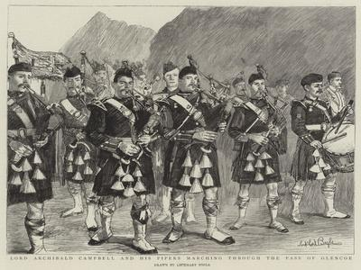 Lord Archibald Campbell and His Pipers Marching Through the Pass of Glencoe