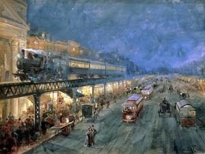 The Bowery at Night, 1895 by William Louis Junior Sonntag