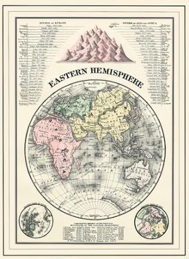 Map of the Eastern Hemisphere by William M. Bradley