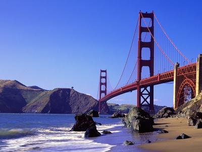 Beach and Golden Gate Bridge