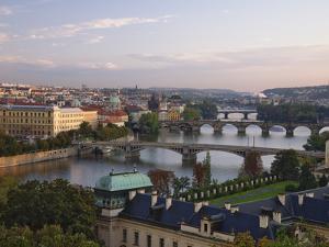 Bridges Crossing the Vltava by William Manning