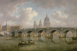 Blackfriars Bridge and St. Paul's Cathedral, C.1762 by William Marlow